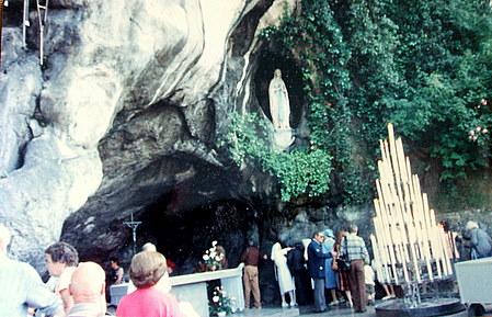 grotto in Lourdes, France